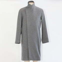 Wol/Polyester Fabric Fashion Coat voor heren