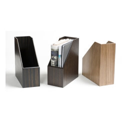 Madeira natural detentor da revista materiais de madeira porta-arquivos