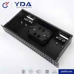 끝 케이블 배열 48를 위한 조립된 광섬유 분포 프레임 96 코어 강철 1.00mm ODF 패치 패널