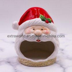 Оптовая торговля Санта-образный T-Light Керамические держатель при свечах на Рождество оформление