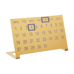 Dateの方法Golden Instagram Highquality Metal Desk Perpetual Calendar