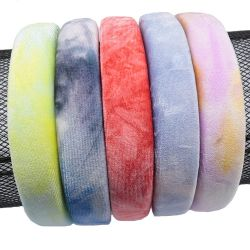 5El color de Diadema esponja 3cm de ancho, en efecto Tie-Dye M208252