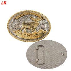 La promotion de l'usine fait sur mesure de gros cadeaux souvenirs Fashion Design Logo en alliage de zinc de l'émail doux 3D militaire de l'homme Ceinture boucle en métal de la Chine