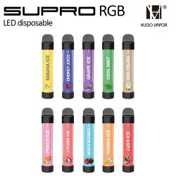 2021 수프로 RGB LED 일회용 도매 바페 팩토리 가격 퍼프 1600 전자 담배