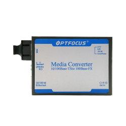 10/100M Sc Conversor de transceptor de fibra sola fibra monomodo 25km de fibra óptica Ethernet Media Converter.