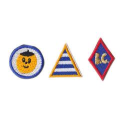 Maglia su Patch applique Badge Ricamo Abbigliamento T-Shirt tessuto Patch Per la Corea