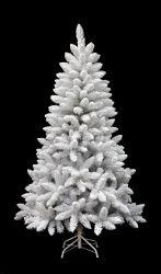 6FT weißer gespritzter Belüftung-Weihnachtsbaum, Vor-Lit