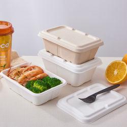 950 ml reciclable Eco el bagazo Box Set para llevar a cabo