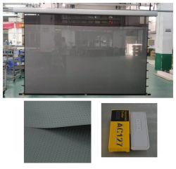 Xyscreen 80-100 дюймов пульт ДУ ИК/РЧ EC2 перейдите на вкладку с электроприводом напряженности Alr акустические прозрачный экран проектора с черными Crystal S