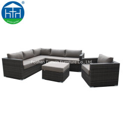 Classic Factory Garden Pe Rattan Wicker Outdoor Patio L Shape Sofa Lounge