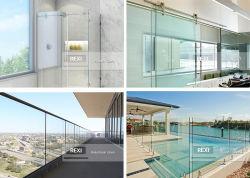 Limpar temperado e revenido porta laminado para duche balaustrada corrimão de vidro de protecção exterior escada de Esgrima e vidro de tabique de 6mm a 8mm 10mm 12mm 15mm 19mm