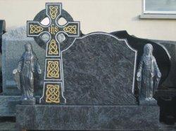 Черный Гранитный памятник Headstone Tombstone кладбище с