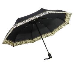 Черный автоматический компактный зонтик - солнце и дождь - автоматическое открытие и нажмите кнопку Закрыть поездки Strong строительство Легкая складная ТЕБЯ ОТ ВЕТРА одной рукой (YZ-19-18)