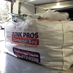 2 yardas 3 Yard Bin bolsas tejidas PP Jardín Contenedor de recogida de residuos de construcción de la bolsa de basura Removel Skip para empresa de reciclaje
