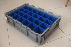 Las copas de vino caja de embalaje de cartón ondulado de plástico hueco anidados de PP de la Junta de verificación