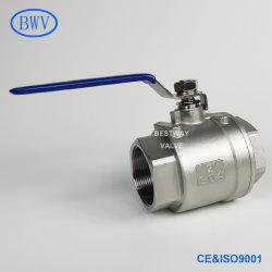 1000 رطل لكل بوصة مربعة/Pn63 304/316 NPT/BSPT/BSPP ذو حز ثنائي القطع من الفولاذ المقاوم للصدأ الكرة الصمام
