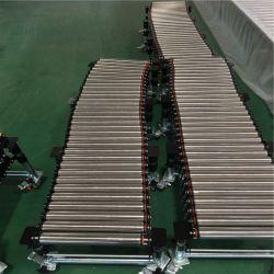 С регулировкой высоты разгрузки выдвигаемая конвейер тяжести роликов подачи