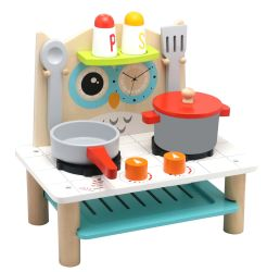 Hölzerne Spielwaren-und Baby-Spielwaren-Hersteller-Fabrik der hölzernen kleinen Eulen-Küche für Kinder und Kinder