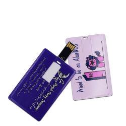 شعار USB Flash Drive Custom Logo 4 GB 8GB 32GB 128 جم بطاقة ائتمان USB2.0 بطاقة ائتمان للشركات شريحة USB