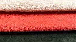 100% Polyester Solid Rabbit Fur Faux voor Garment Blanket en Grondmat