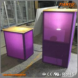 Compteur de support d'affichage Boîte à lumière de la table de salon commercial
