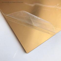 4X8 Pulgadas de lámina de acrílico espejo oro oro espejo panel acrílico