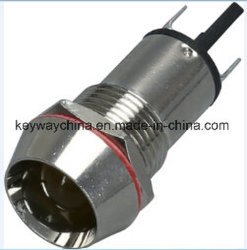 Diam14mm-AD26C14 a luz indicadora do LED de metal com vermelho, verde, amarelo, azul e branco