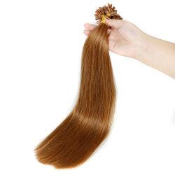 Grade 6a attiré 100 % de l'homme Double Remy blonde a basculé de la kératine des cheveux humains l'extension, U Astuce sèche/I Astuce cheveux/poils à embout plat
