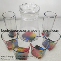7PCS de Reeks van de Tuimelschakelaar van de Wisky van de Kruik van de Wijn van de Kruik van het Glas van de Kleur van Raibnbow