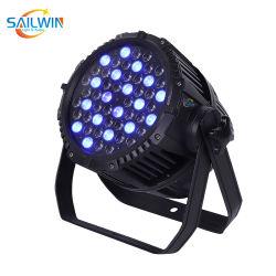 مصباح LED خارجي كامل الألوان DMX مقاومة للماء 100 واط بقدرة 54*3 واط يعمل بتقنية RGBW