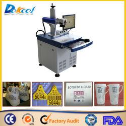 Desktop 100*100mm 20W de Laser die van de Vezel van de Verkoop Schoen Plastic Decro/Kop merken