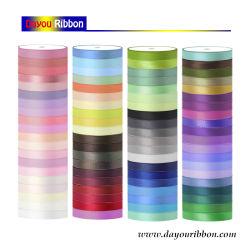 도매 6mm-50mm 폴리에스테 공단 리본 주문 실크 리본 색깔 훈장 Dy05001