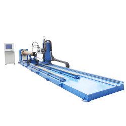 Aço inoxidável com preço baixo do orifício do tubo de CNC chama interseção de corte da máquina de corte