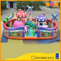 Aoqi inflable nuevo diseño de la aldea el molino de viento de la ciudad de diversión para niños (AQ01683)