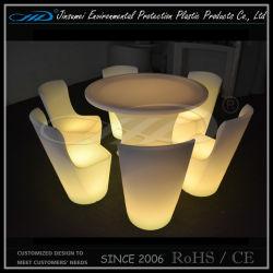 Éclairage à LED de mobilier de jardin en plastique fixé pour le Bar Restaurant