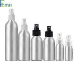 bottiglia di alluminio dello spruzzo cosmetico di stampa personalizzata fornitore di 30-2500ml Cina con gli accessori