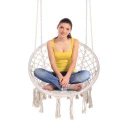 Cadeira de Jardim Piscina Interior Cadeira Kids travando cadeira de balanço Hammock Presidente