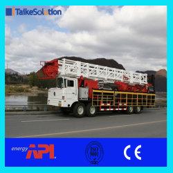 Champ d'huile de norme API de pétrole et de puits de gaz mobiles montés sur camion Zj20 650HP Workover Rig et puits de forage