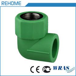 CE-certificering High Density Low Pressure Polyethyleenepr Reducer Tee Female Aansluiting van de PPR-leiding van de bochtstuk met schroefdraad