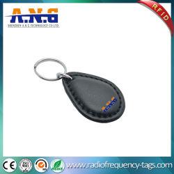 アクセス制御のためのカスタマイズされたCmykの印刷RFID革Keychainの札