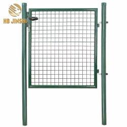 100x100 cm recouvert de poudre de couleur verte de Wire Mesh Garden Gate porte de clôture de la conception