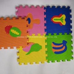 Stuoia animale del pavimento di puzzle della gomma piuma di stampa di EVA dei bambini di prezzi di fabbrica per il centro di yoga