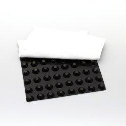 Placa de drenagem da cavidade de HDPE com geotêxtil não tecidos