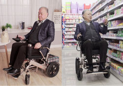 Shanghai Beiz Aluminum Alloy 폴딩 CE 승인 전동 휠 의자