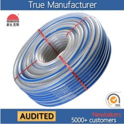 Trenzado flexible de PVC flexible de fibra reforzada manguito del tubo de agua-698KS SGE