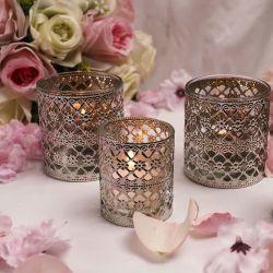 Свадебный стол во главу угла декоративные стеклянные держатель в форме свечи