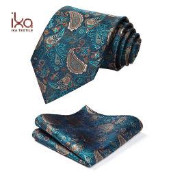 Legame di seta su ordinazione tessuto Paisley dell'OEM del jacquard dei 2019 nuovo Mens di alta qualità