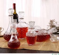 Claro el whisky de lujo de vaciar la botella de cristal de vidrio de vino tinto (250/500/1000ml).