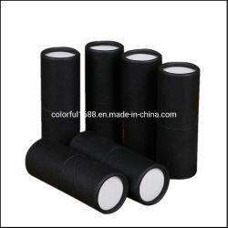 Kundenspezifische schwarze Gefäß-Glas-Tropfenzähler-Flaschen-Papier-Paprundes Verpackungs-Gefäß für kosmetische Tee-Gleichheit