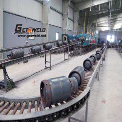 Horno para aliviar el estrés del cilindro de acero de la línea de la reparación
